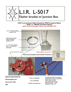L5017 Flasher Bracket w/ Junction Box